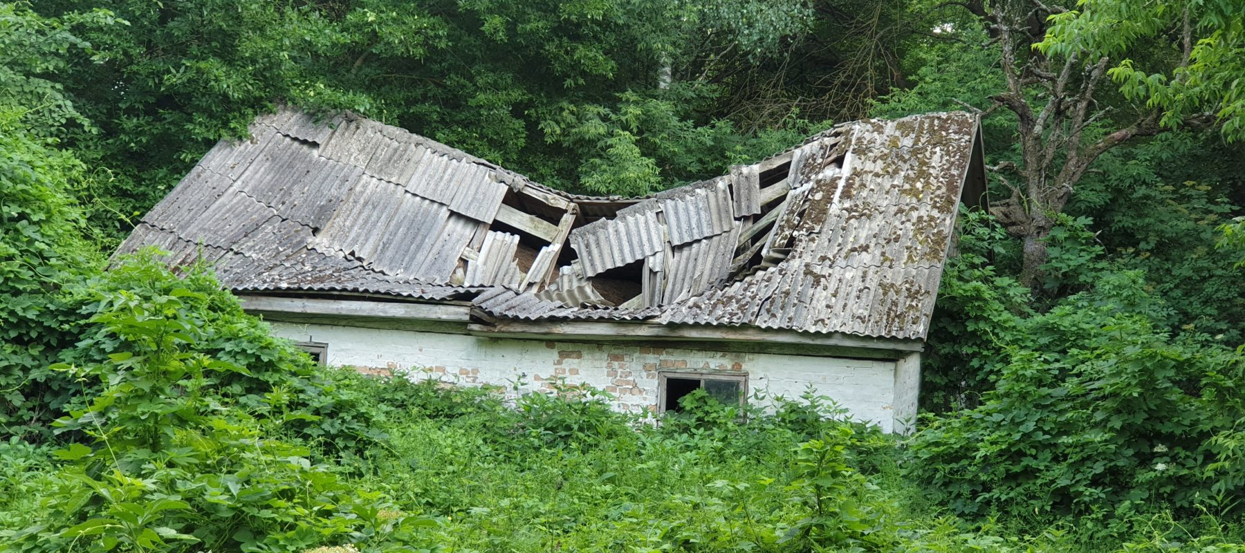 The roof has fallen. Тhe village of Zalissia