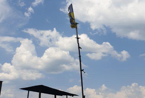 Прип'ять. Прапор на даху