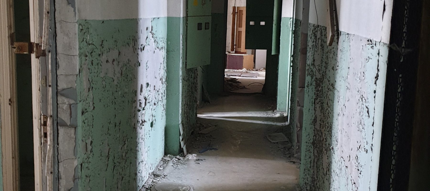 Pripyat. Skyscraper. Corridor